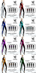 Wicca\'s Wardrobe - Liara Catsuit Tribal All Colors