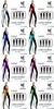 Wicca's Wardrobe - Liara Catsuit Tribal All Colors