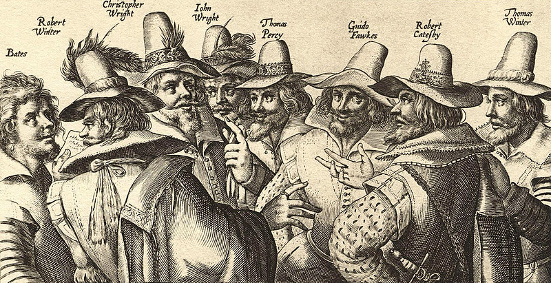 The Gunpowder Plot conspirators engraved by Crispijn van de Passe the Elder