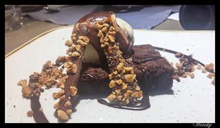 Restaurante Lavaca verano - Brownie con helado