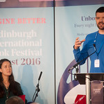 Sarah Howe & William Letford | Two of the most powerful young voices in British poetry open the Book Festival 2016 © Alan McCredie