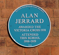 Photo of Alan Jerrard blue plaque