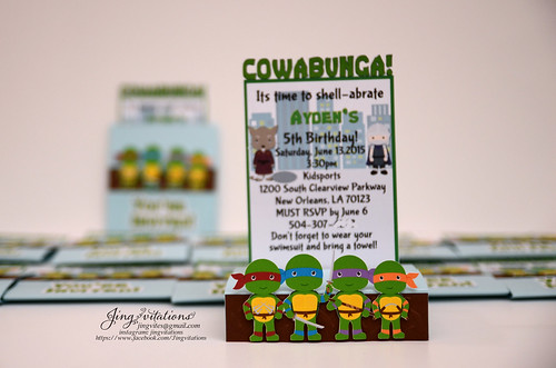 handmade teenage mutant ninja turtles invitations (4)