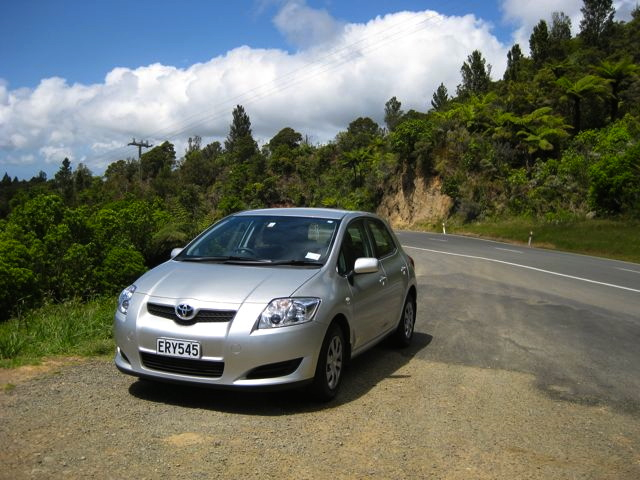 Rental car in New Zealand