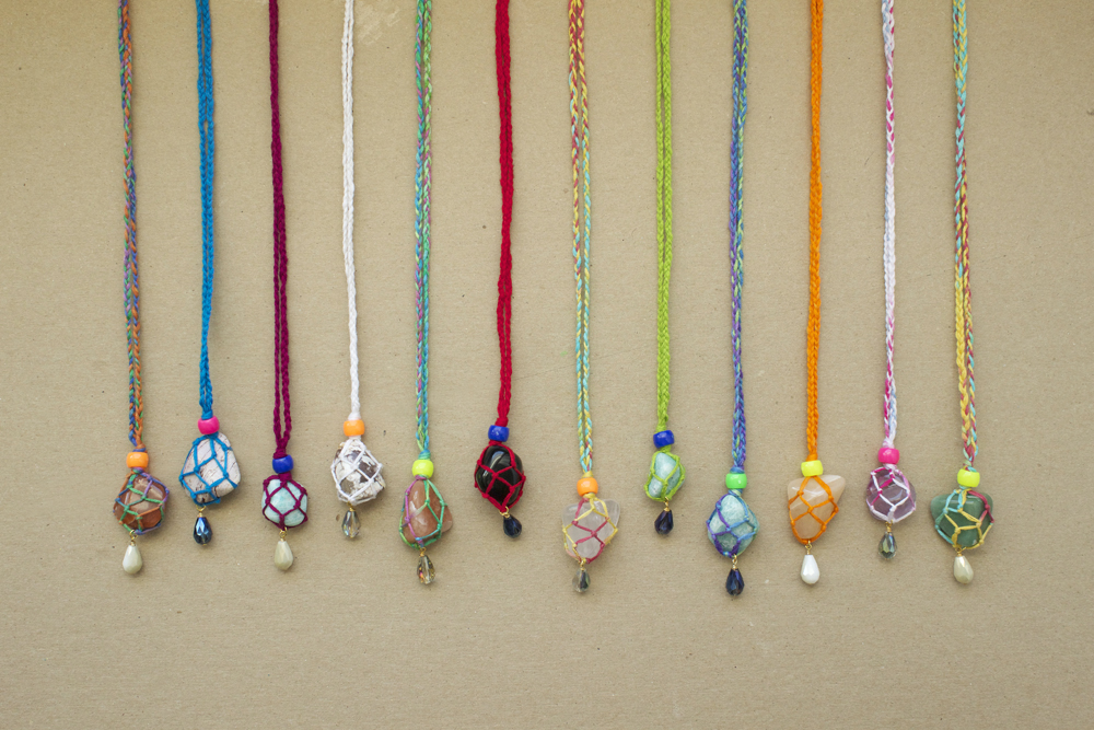 wrapped gemstone necklaces with cousin brand products