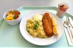 Baked Hoki filet with remoulade & potato cucum…