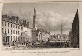George Street in the New Town in Edinburgh, Scotland c1829