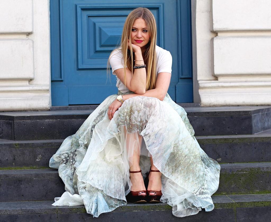 H&M Conscious Exclusive Maxi skirt silk