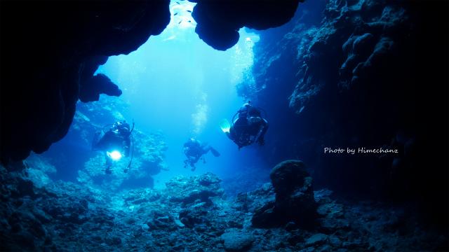 洞窟探検へ♪