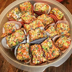 There's a good chance these fruity pebbles marshmallow treats will not make it thru the night for me to take to work tomorrow....