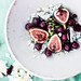 Raw fig, blue cheese and grape salad, by Laura Domingo