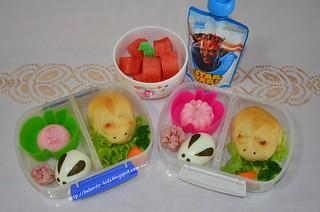 Easter Bunny Rolls Bento