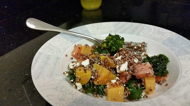 Quinoa, beet, and kale salad