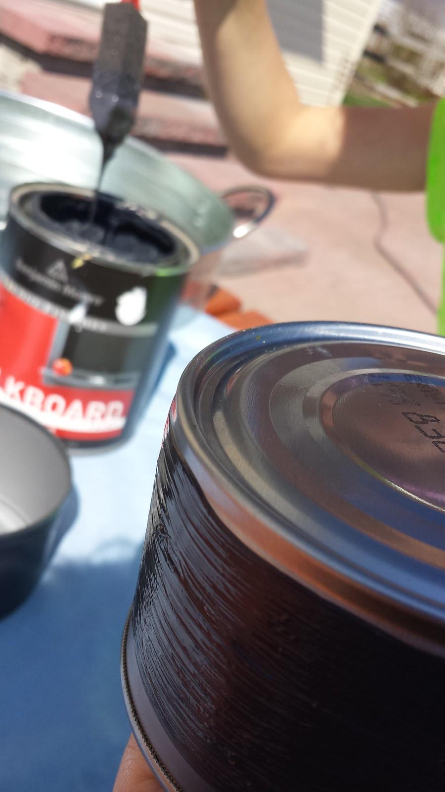 Chalkboard cans