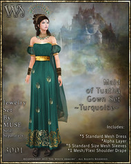 Maiden of Tuatha Gown Set-Turquoise_Promo Art
