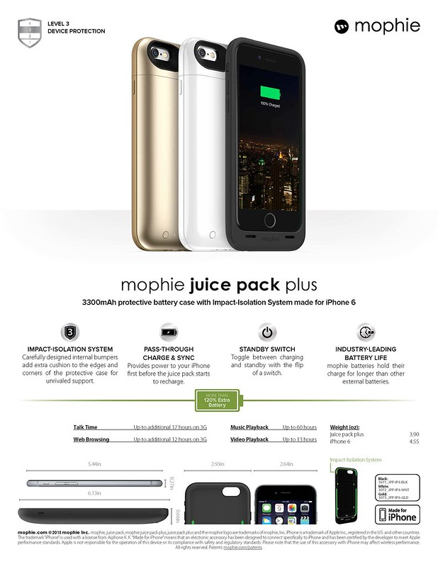Mophie Juice Pack Plus for iPhone 6 (Sheet)