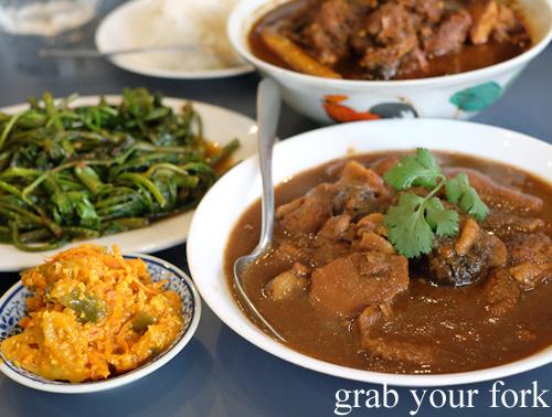 Nonya cuisine at Peranakan Place, Auburn