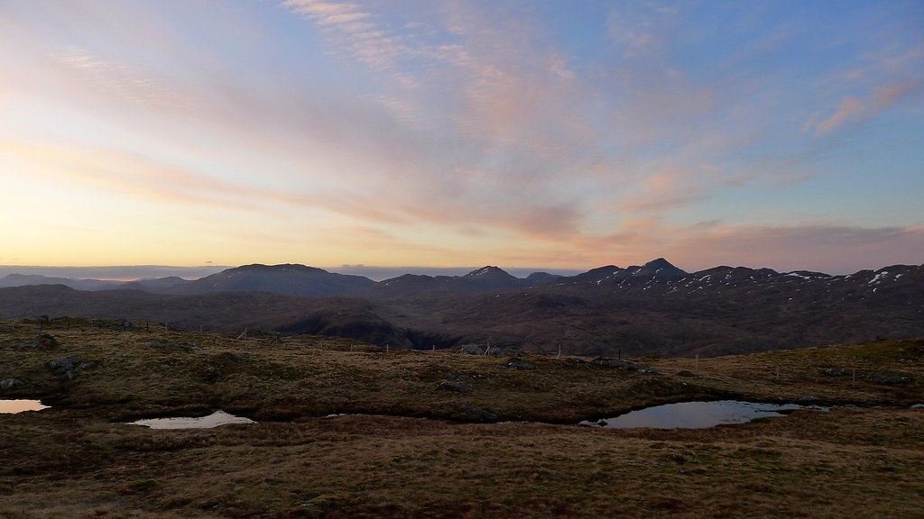 Arrochar hills before sunrise