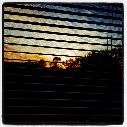 I like when the sun sets outside my window. #sunset
