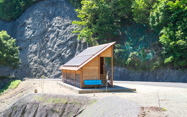 Japanese outhouse, high-tech of course