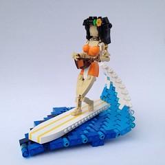 Ukelele Surfing Girl