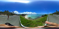 Kailua Beach from the road to Lanikai -a 360° Equirectangular VR