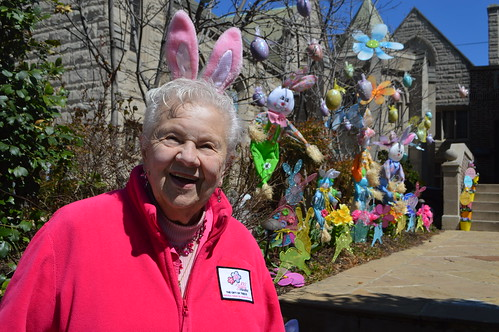 Theresa Irene Wolowski as the Easter Bunny celebrating Easter in Washington, D.C. USA