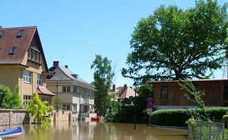 Hochwasser Talstr. 2013 an der Kunstgalerie