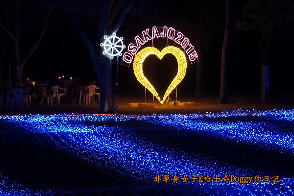 日本大阪城公園梅林城天守閣3D光之陣17