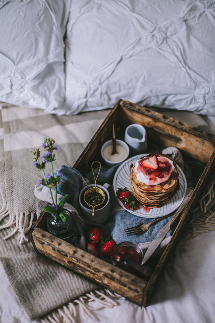 Goat Cheese Marscarpone Vanilla Bean Pancakes by Eva Kosmas Flores | Adventures in Cooking