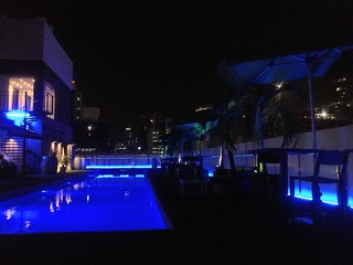 Rooftop pool bar at the Manrey Boutique Hotel, Panama City