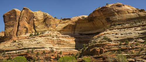 Wind cave on the Escalante River, GSENM (two image panorama)