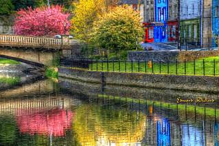 Impressions of John's bridge in Spring. Kilkenny city, Ireland.