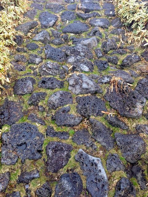 Volcanic rock path