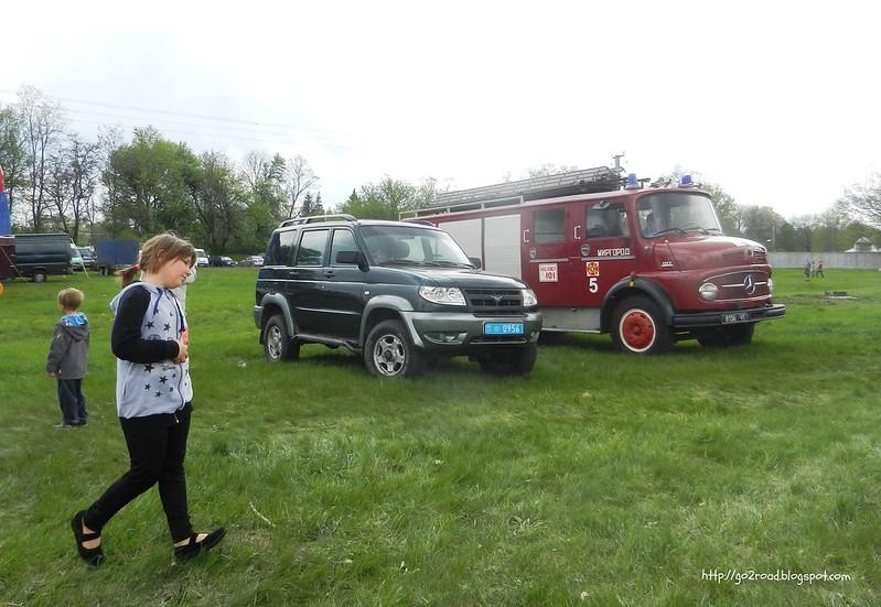 Мерседес - пожарная машина