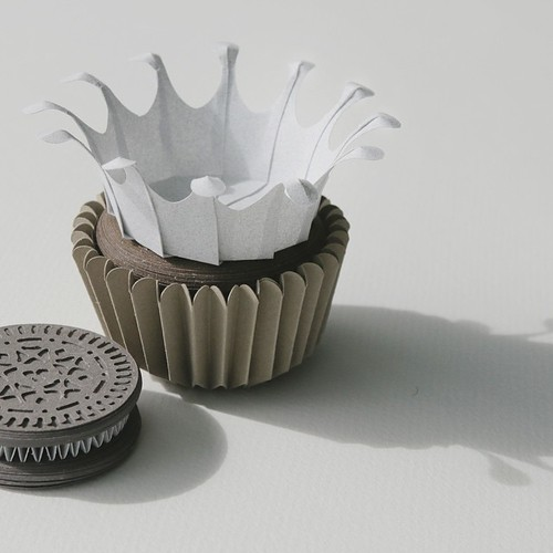 Origami Paper Cupcake by Fiber Lab - Ticket Stub Flavor
