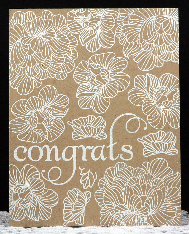 White on Kraft Congrats Card | shirley shirley bo birley Blog