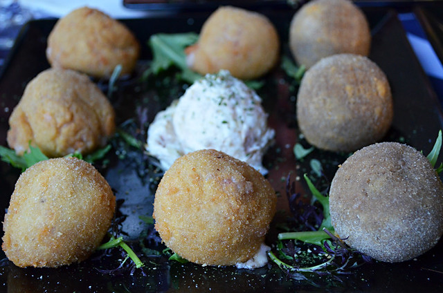 Blue cheese and Iberico croquettes, tapas, Tenerife