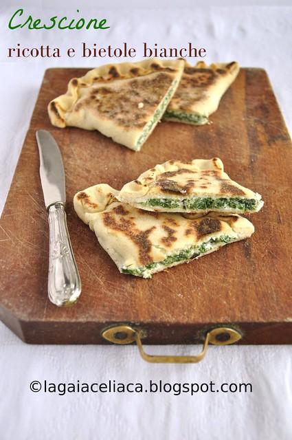 Crescione ricotta e spinaci senza glutine