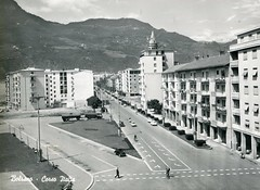 bolzano - postcard - corso italia - 1961