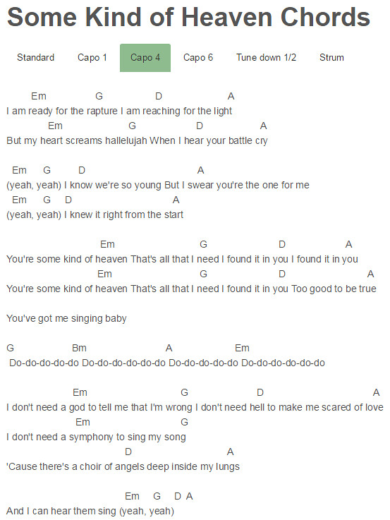 Unique Hear Us From Heaven Chords Gift - Song Chords Images - apa ...