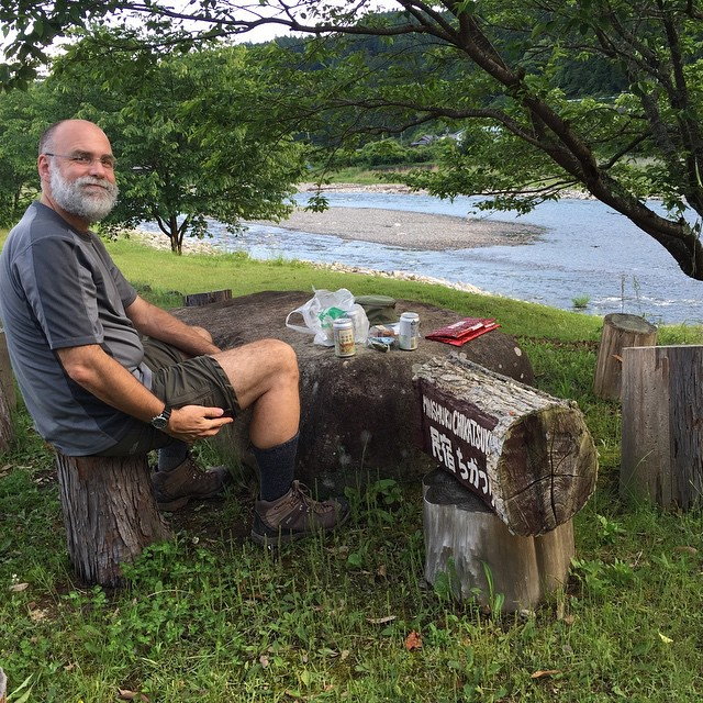Beverages by the river in Chikatsuyu