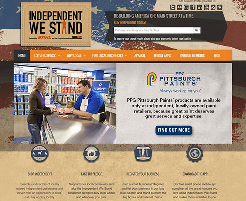 PPG Pittsburgh Paints has an exclusive partnership with Independent We Stand