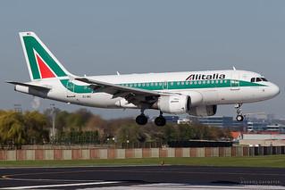 EI-IMG, Alitalia Airbus A319-100, BRU
