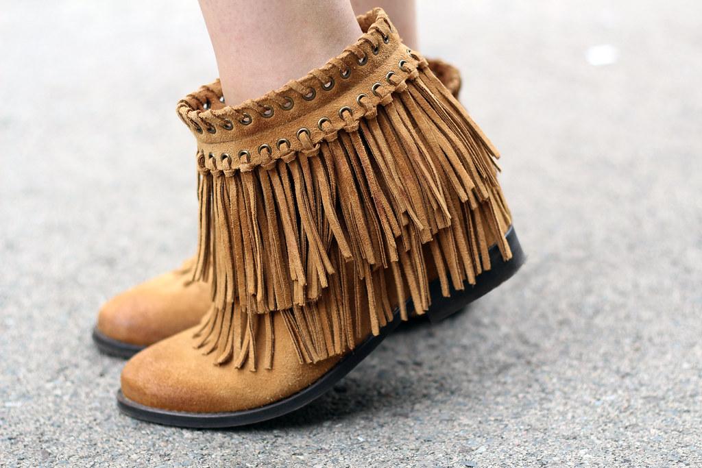 Fringed zara boots