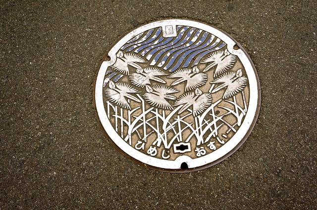 Waater Manhole in Himeji, Hyogo