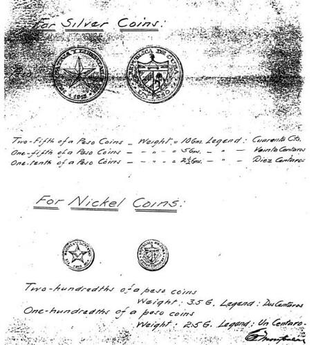 Cuba coin sketches