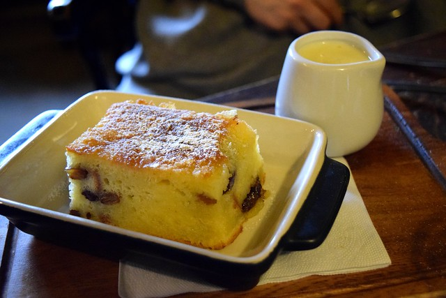 Bread & Butter Pudding at The Compasses Inn, Crundale