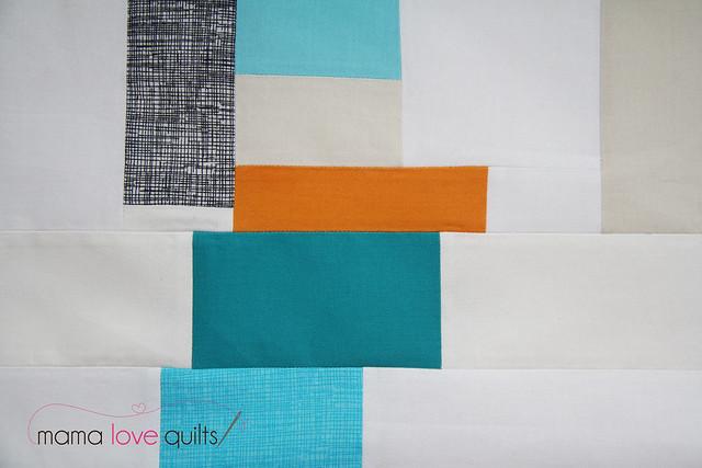 Improv mini quilt top1