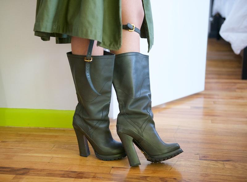 Prada heeled boots